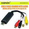 USB 2.0 Audio Adapter Cable Video Grabber Capture& TV Tuner Cards