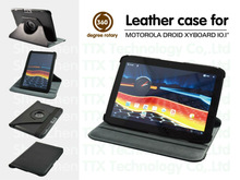 Folio Leather Case w/ Stand Cover for Motorola Droid Xyboard Xoom 2 Tablet 10.1""