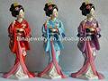 Resina japonês boneca de madeira, Life size estátua de resina, Kokeshi japonesa de madeira boneca