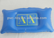 plastic pvc inflatable beach pillow with logo printed for advertising promotional gifts