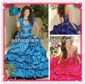 Qd-015 bustierquailty équipé corsage corset robe de bal robe de soirée indienne boléro