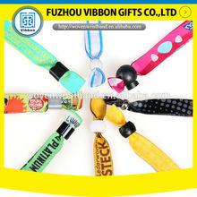 promotional custom single use woven wristband embroidery wristband