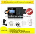Yl- 007m2k sms gsmintrusión para el hogar sistema de alarma del sensor somke