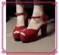 sandalia de la señora de tacón alto sandalias descalzo modelo de sandalia 2013