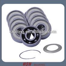 8mm bore 608 size 8*22*7 remove shield ABEC-7 ABEC-9 ABEC-11 long board skateboard inline skate bearing