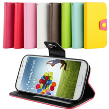 PU leather+TPU stand case cover for Samsung galaxy S4 i9500
