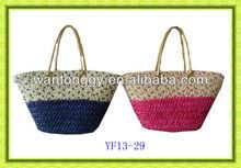 2013 newest design HK fair production handmade colourful corn husk straw bag