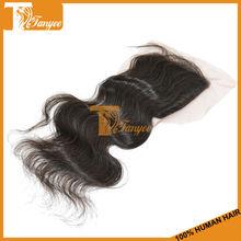 100% virgin brazilian body wave cheap lace closure bleached knots