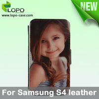 New-Subimation Leather Phone Case for Samsung Galaxy S4(I9500,leather with printable fabric surface