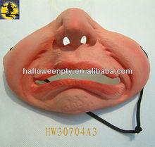 2013 New Design Halloween Latex Half Face Mask