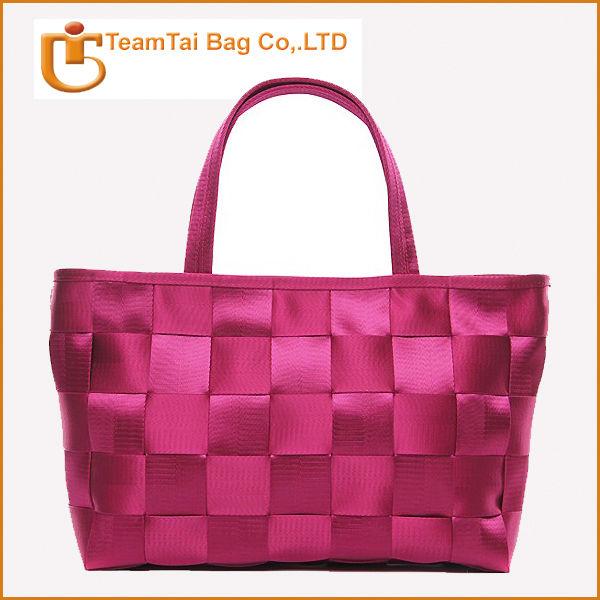 Hot selling handmade seatbelt handbags fashion seatbelt bags