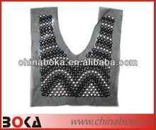 Fashion handmade beaded collar neck design of dress