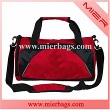one comparment cylinder polyester travel sports bag