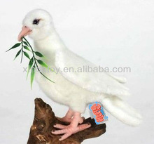 Dove white love birds stuffed plush bird toy