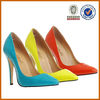 2013 latest sexy high heel dress women genuine leather shoes
