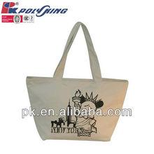 Fashion women canvas tote bag 2013(PK-10458)