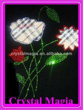 water lily design rhinestone heat transfer motif