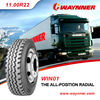 Qingdao Waynner Tyre 11.00R22 heavy duty truck tyres for sale