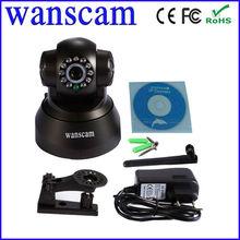 Network ip camera 0.3 mega p2p wifi CMOS MJPEG free factory DDNS speed pan tilt control 13 LED lights cute bobot spy black cam