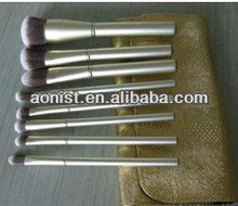Makeup Brushes Tools Cosmetic Brush Set Eyebrow Comb with Roll up Snake Pattern Bag