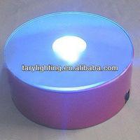 led light base for display colored crystal rotary led base