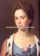 Beautiful Classi lady oil painting portrait