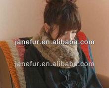 Europe fashion White Rex Rabbit fur scarf for lady