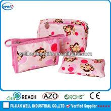 Pink Cartoon Ladies Make Up Bag