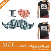 beading for apparel iron on rhinestone motifs on t shirt - FOKSY