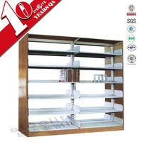 Luoyang Cheap price Double column single face matel library bookshelf with 5 adjustable shelves