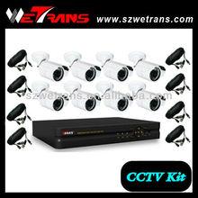 WETRANS KIT-5208BEFH-B H.264 3G netwrok 8CH Effio 700TVL CCTV DVR kits Security Alarm