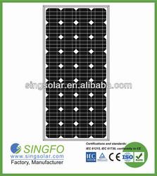 100 Watts solar shower panel