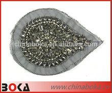 BOKA handmade rhinestones sew on motif on mesh backing