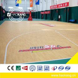 PVC sports flooring basketball floor mat/pvc sportvloeren /PVC-Sportboden