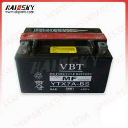 Haissky motorcycle spare parts factory price Dry Charge Motorcycle Battery (12N5-3B)