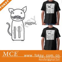 Cute big mustache meow iron on transfers animal design