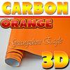 New Style! Shiny Orange 3D Van Wrap Sticker Sheet High Quality Long Lasting Air Bubble FREE / Textured Finish / Size 1.52 x 30 M
