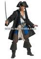 De fantasía para adultos prestige capitán jack sparrow traje de piratas del caribe el traje de cm-1505