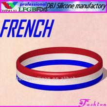 FRANCE National Flag Silicone Bracelet/Wristband