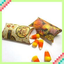 Customize print popular high quality pillow box candy