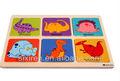Quebra-cabeça de madeira desenho animado / dinosaur meninas borboleta caminhão