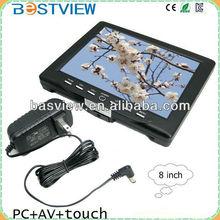 8''HDMI Car vga monitor/ TFT LCD monitor with HDMI input