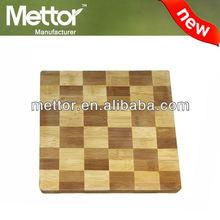 Mettor-New unique design bamboo square cutting board