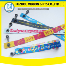 customize short woven polyester wristband