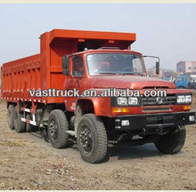 China 240HP Dongfeng 8x4 safe & comfort long head garbage dumpers