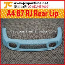 Fiberglass A4 B7 RJ Rear Bumper Lip for Audi 06-08 A4 B7 Body Kit Lip Spoiler