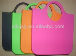 eco friendly flexible silicone rubber handbag for lady
