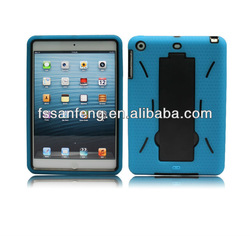 Light Blue 2in1 PC Silicon Case for iPad mini,Kickstand Case for Apple iPad mini
