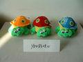 Promotionnels personnalisés en peluche douce belle 3- couleur tortue jouet animal avec de grands yeux de bande dessinée