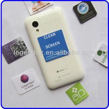 Custom Size/Shape Microfiber Adhensive Sticky Mobile Phone Screen Cleaner Wipe